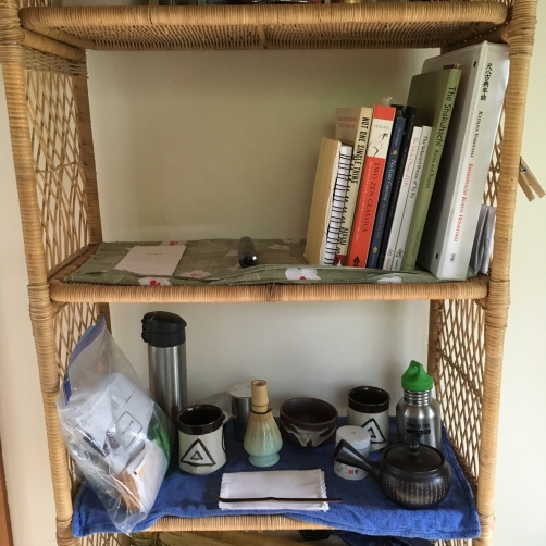 A monks bookshelf